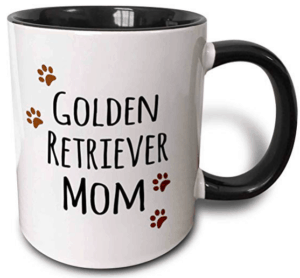 golden retriever mom coffee cup