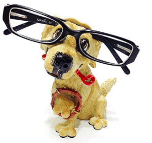 eyeglass stand for golden retriever mom