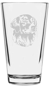 golden retriever pint glass