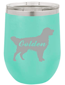 golden retriever mom wine tumbler