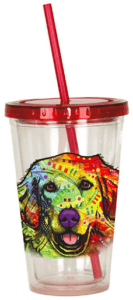 golden retriever mom tumbler