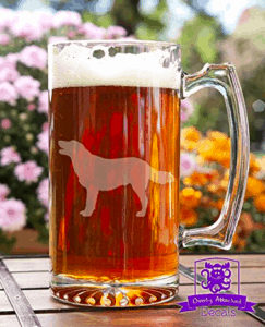 golden retriever beer stein for dog dad