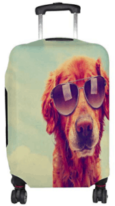 golden retriever suitcase cover