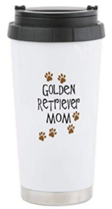 golden retriever mom coffee travel mug