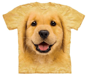 golden retriever face shirt