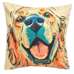 golden retriever mom pillow