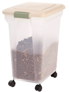 golden retriever puppy food storage container