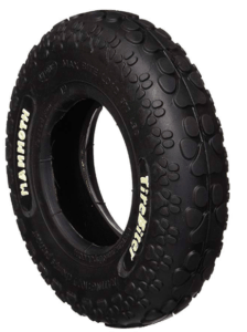 rubber tire dog chew toy