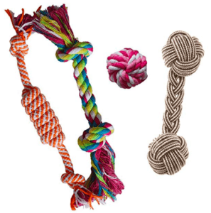rope toy for teething puppies
