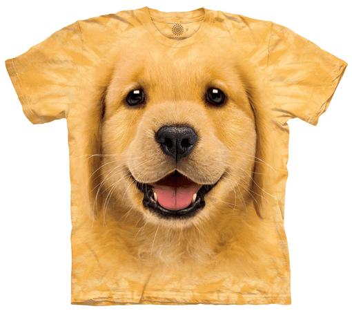 golden retriever puppy face shirt