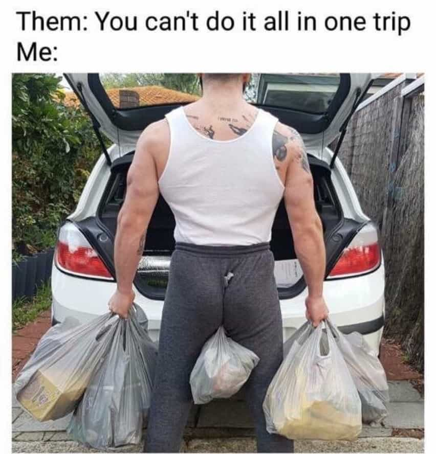 grocery bag meme